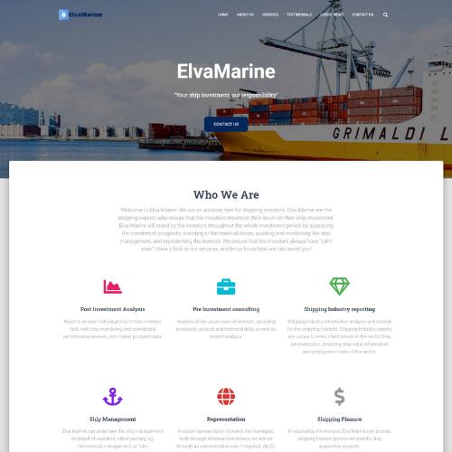 Portfolio: Elvamarine Website