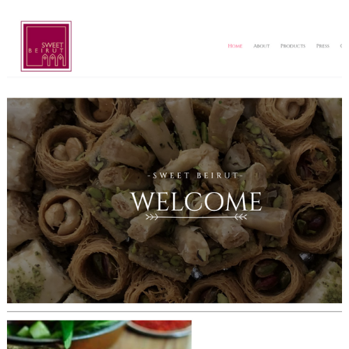 Portfolio: Sweet Beirut website